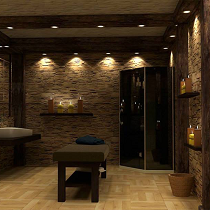 Massage rooms for various types of massages